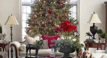 simple christmas room