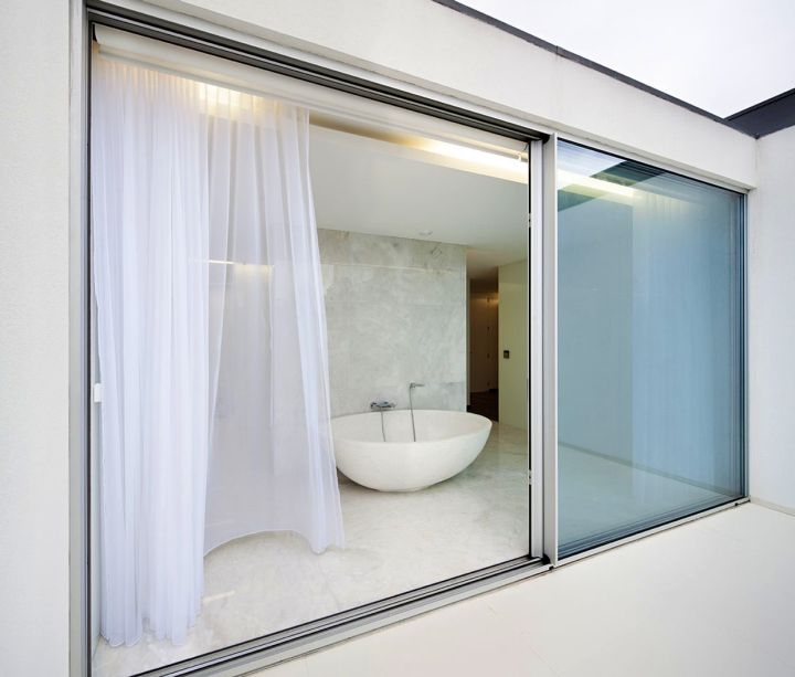 simple clear modern glass door