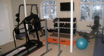 simple home gyms ideas with bars
