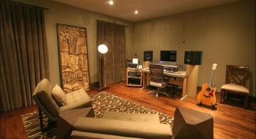 simple home music room
