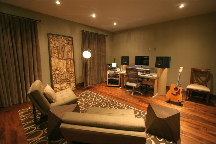 simple home music room