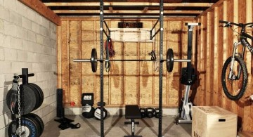 simple in garage home gyms ideas