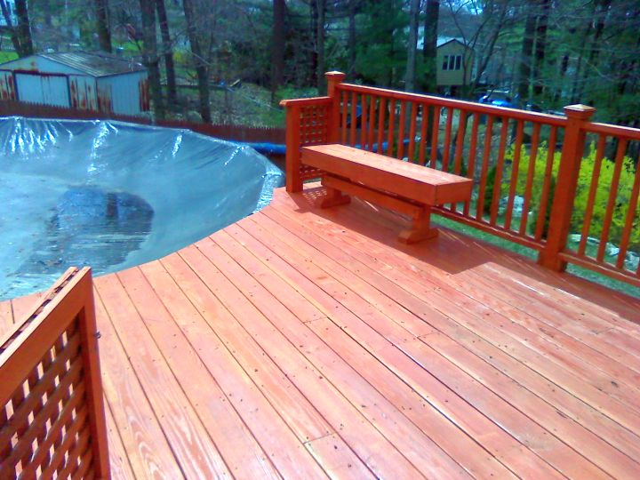 18 contemporary swimming pool wooden deck designs for Wood pool deck design
