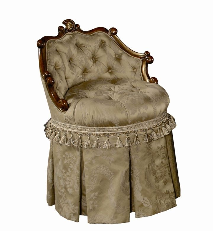 18 Appealing Skirted Vanity Stool Designs