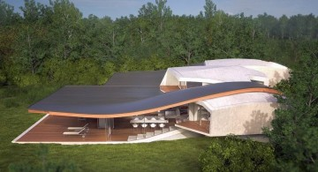 sloping futuristic house plans