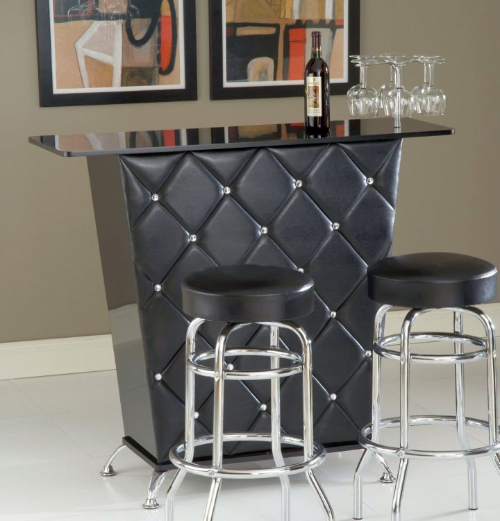Small and simple modern home bar design - Home bar counter design photo ...