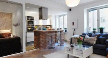small living room ideas next to the kitchen