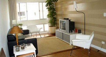 small living room ideas with wooden panel