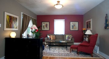 small maroon living room