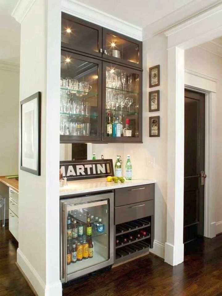 small modern home bar design