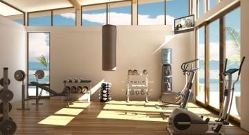 spacious home gyms ideas