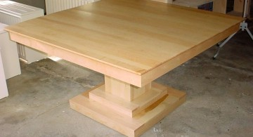 square mapple pedestal table base ideas