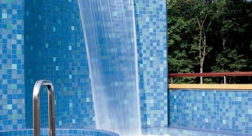 tall modern pool waterfall ideas