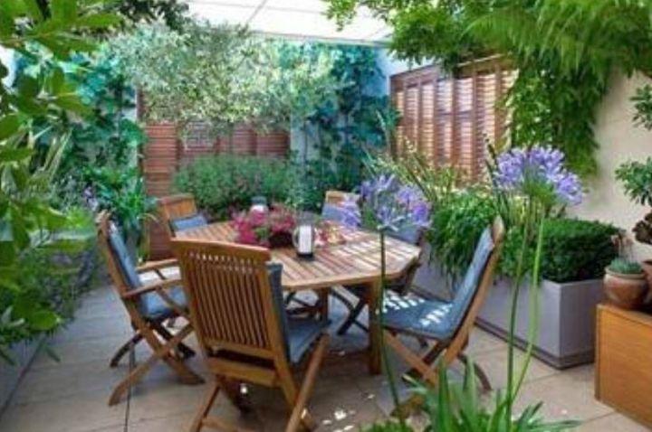 terraced flower garden for small space