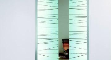 textured minimalist modern glass door