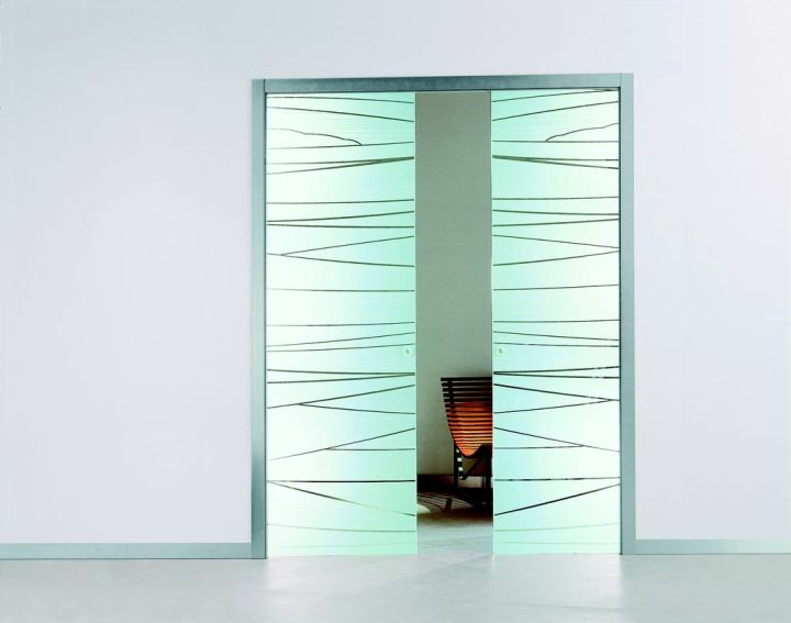 textured minimalist modern glass door