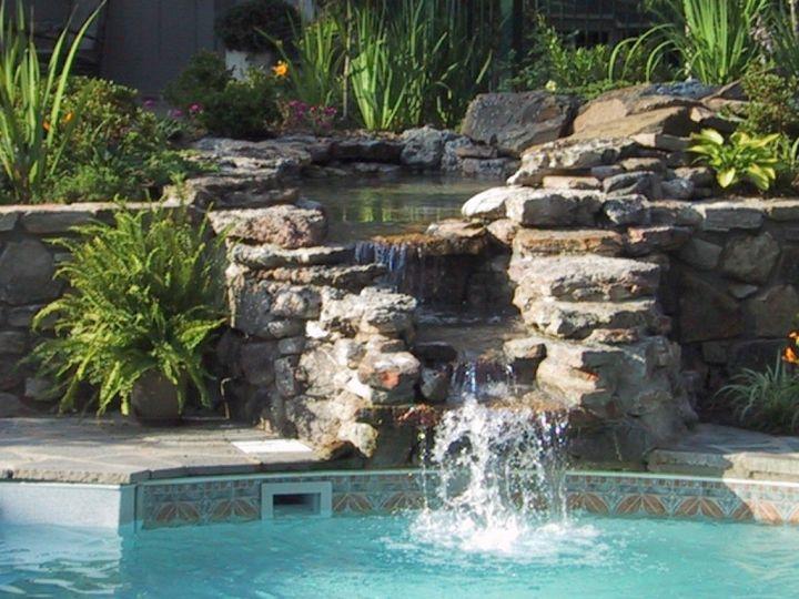 Pool Waterfall Ideas pool waterfalls swimming pool drystack stone veneer waterfall keller 17 Lively Pool Waterfall Ideas That Will Blow You Away