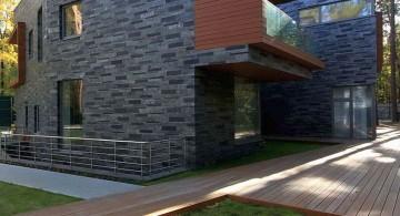 two villas back yard pathway