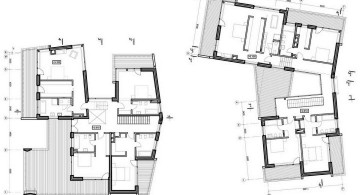 two villas second floor plan