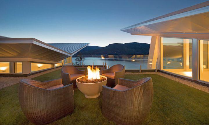 ultramodern lake house balcony