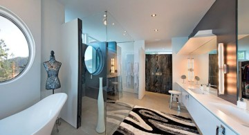 ultramodern lake house bathroom