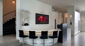 ultramodern lake house home bar