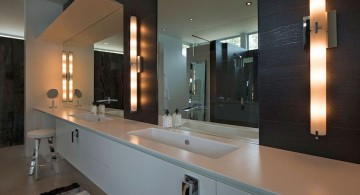 ultramodern lake house vanity sink