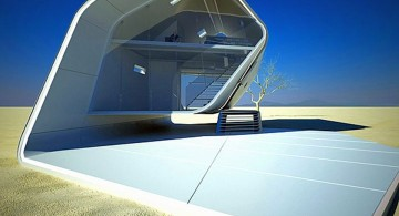 unique geometry futuristic house plans