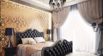 vintage bedroom decoration ideas in black and cream
