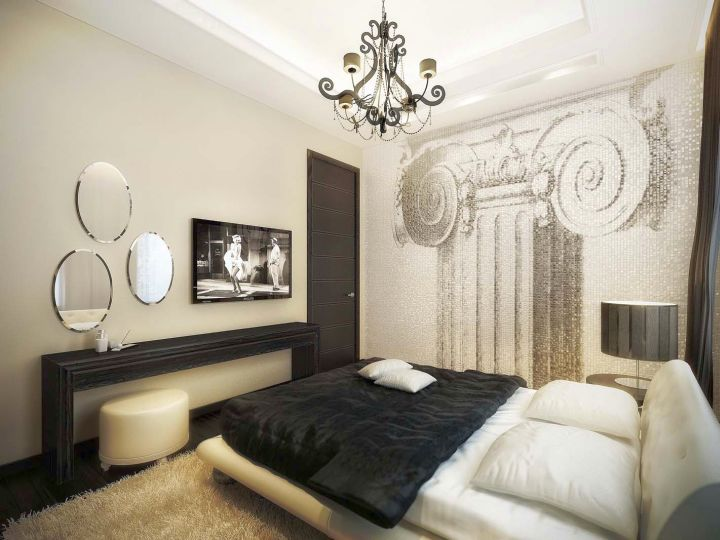 vintage bedroom decoration ideas in monochrome