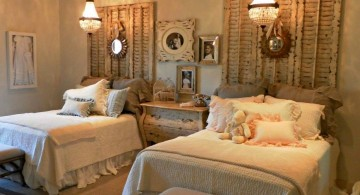 vintage bedroom decoration ideas with twin beds