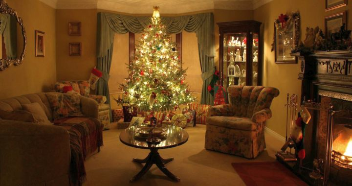 17 sparkling christmas room interior decor ideas - Images of christmas decorated living rooms ...