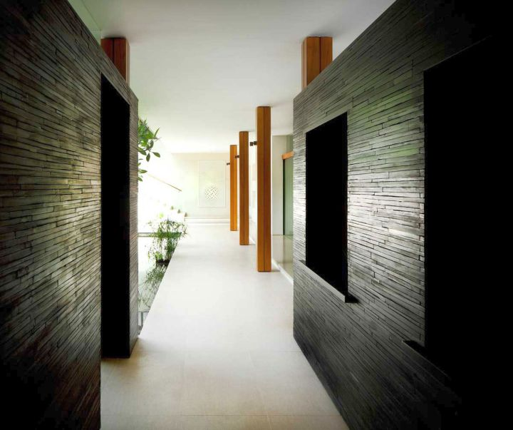 water lily house hallway