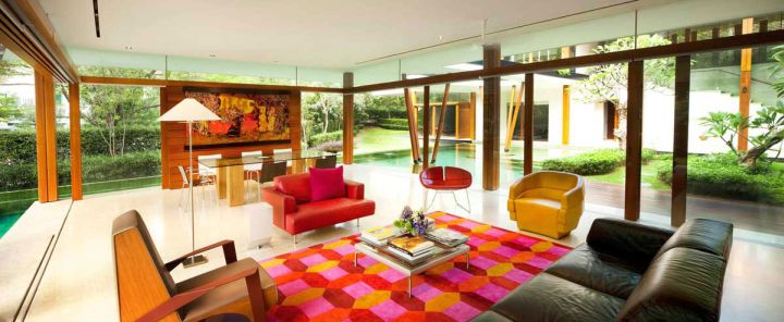 water lily house living room