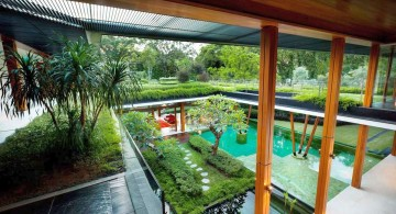 water lily house second floor view