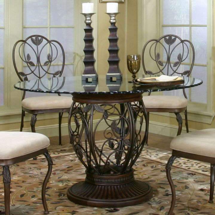 wrought iron details pedestal table base ideas