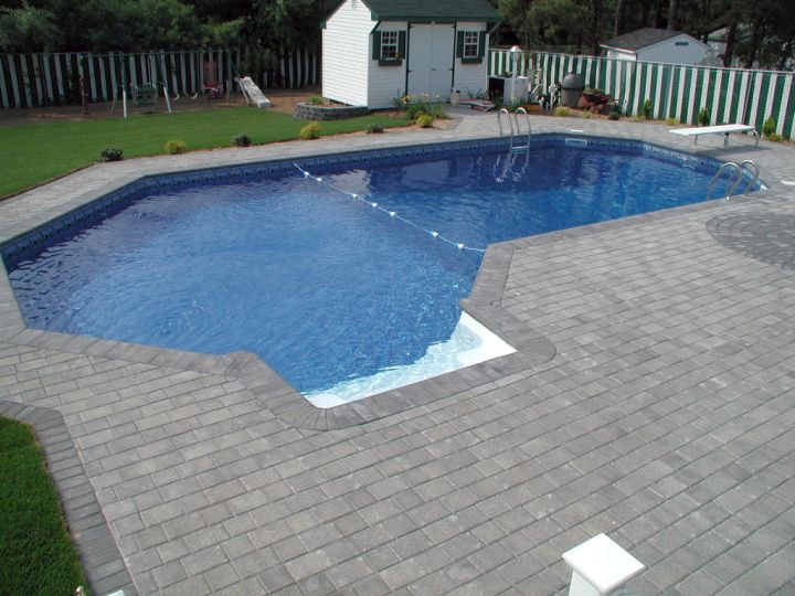 20 lazy l pool designs in backyard decoration ideas for Pool design 2015