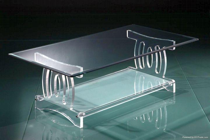 acrylic coffee tables with roman column