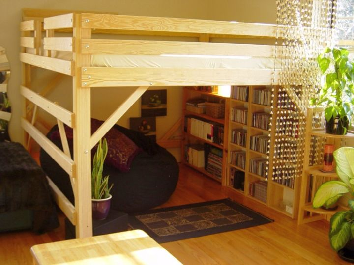 Adult Loft Beds With Desk With Bookshelf