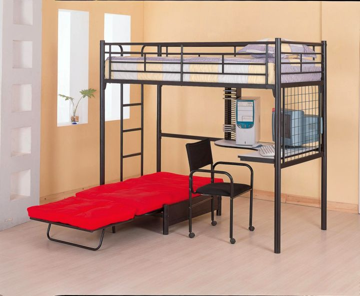 Adult Loft Beds With Desk With Extra Sofa Bed