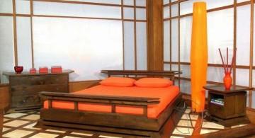 bamboo themed modern asian bedroom