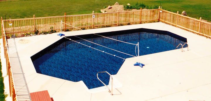 20 lazy l pool designs in backyard decoration ideas for Sport pools pictures