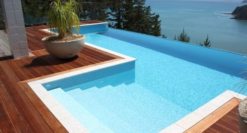 best pool tile in bright blue and white