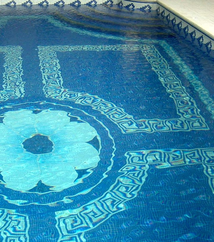 Swimming Pool Tile Designs Stunning Fascinating Swimming Pool