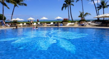 best pool tile with huge orchid pattern