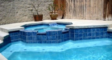 blue marble like tiles best pool tile