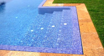 blue mosaic best pool tile