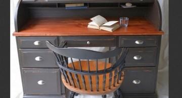 classy hideaway desk designs in black