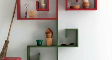 colorful elegant wall shelves