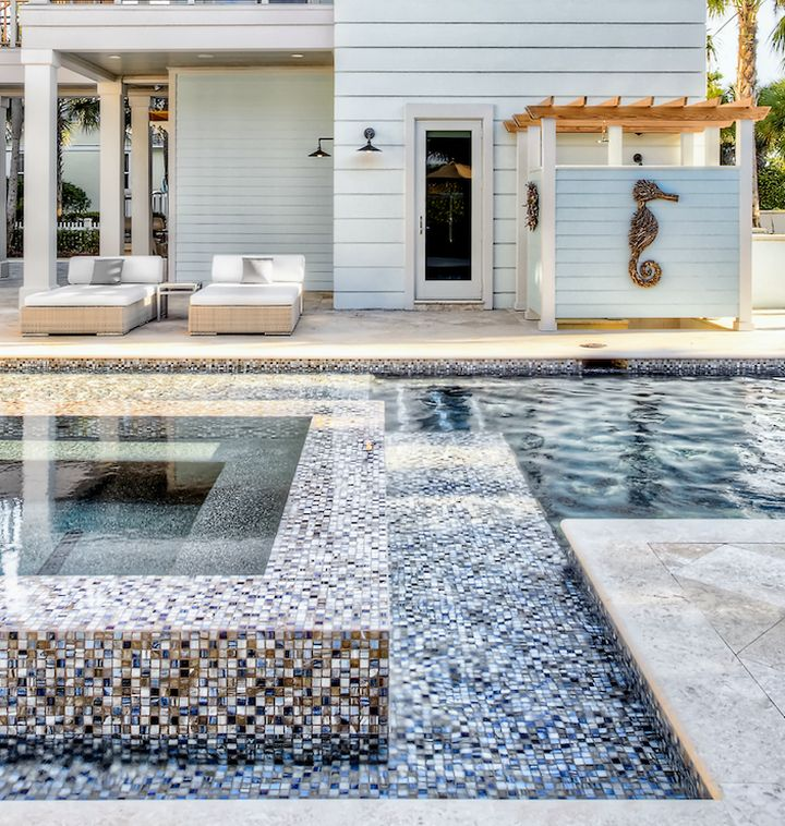 colorful mosaic tiles best pool tile